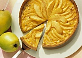 Quince tart with wine glaze