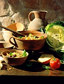 Corsican Vegetable Soup with Cabbage and Tomatoes
