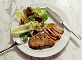 Loin Steak with mixed Green Salad