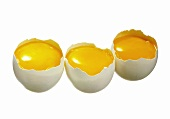 Three open Eggs