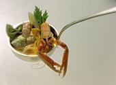 Soup Ladle with Fish-Noodle Soup