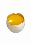 Aufgeschlagenes rohes Ei