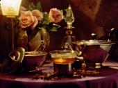 Atmospheric tea scene