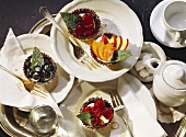 Assorted fruit tartlets