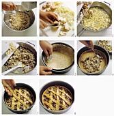 Baking mushroom quiche