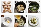 Making chicken fricassee