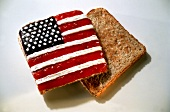Fancy Toast with Stars and Stripes