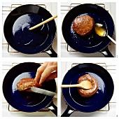 Braten eines Steaks