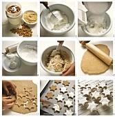 Baking cinnamon stars