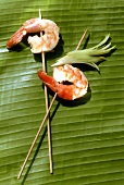 Skewered Shrimp with Spring Onions