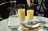 Ouzo with Orange and Grapefruit Juice