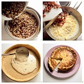 Preparing cheesecake with caraway
