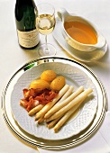 White Asparagus with Smoked Ham