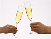 Clinking Champagne Glasses