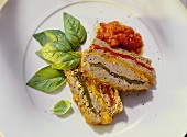 Pesto-Meat Loaf with Bell Pepper