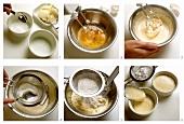 Making lemon quark soufflé