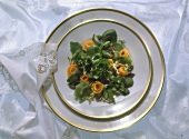 Watercress with Carrot Rosettes