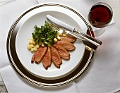 Duckling Breast with Melon