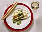 White Asparagus with Fresh Herb Sauce