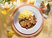 Veal Sweetbreads with Sage-Mushroom Sauce & Pasta