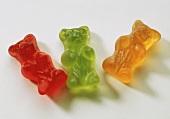 Three gummi bears