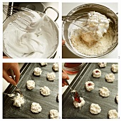 Baking coconut cookies