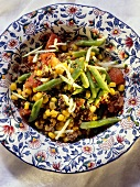 Green Beans with Meat and Corn