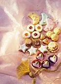 Variety of Festive Christmas Cookies
