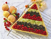 Fruit triangle with champagne jelly