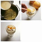 Making orange crème with cream