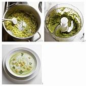 Making fresh pea soup