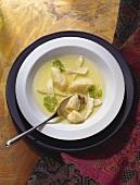 Chicken Soup with Semolina Gnocchi