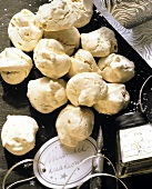 Almond meringues