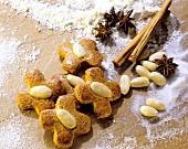 Almond honey biscuits
