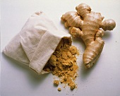 Ginger root and ground ginger