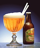 Berlin wheat beer - glass and bottle
