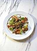 Lentil Salad with pickled Tongue