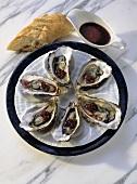 Sylter Austern mit Rotweinsauce
