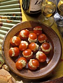 Stuffed Cherry Tomatoes with Tunny