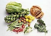 Vegetables; Fruit; Bread & Nuts