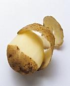 Partially Peeled Potato