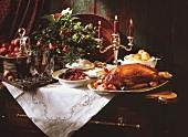 Festive Candlelit Christmas Buffet