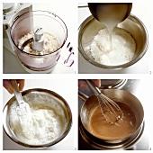 Coconut Ice-cream with Chocolate Sauce