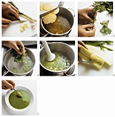 Making parsley soup