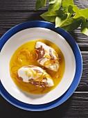 Marbled Orange-Capuccino Mousse