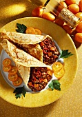 Crepes with Tomatoes and Lentils