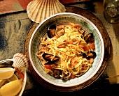 Spaghetti with Seafood Sauce