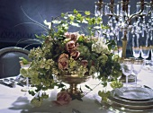 Festive Flower Arrangement on a Wedding Table