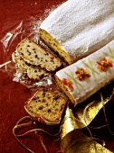 Christmas stollen and fruit cake