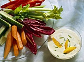 Raw Vegetable Platter; Herb and Orange Dip